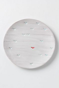 Artful Dinner Plate, Perched Birds #anthropologie - beautiful
