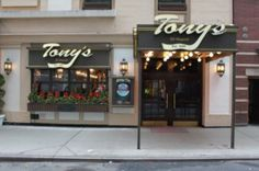 Tony's - W43rd @ Times Square - festive family style Italian restaurant.  Good prices, great food, good service and a fun atmosphere. Lotsa food!