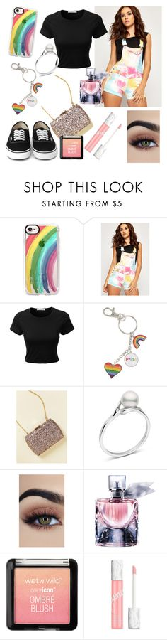 """Pride"" by cobbles ❤ liked on Polyvore featuring Casetify, WearAll, LE3NO, Lancôme, jane and pride"