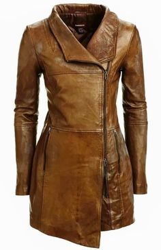 Danier brownish long leather jacket for winter season , love it, simply awesome