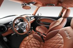 Sick interior. Love the tufted leather.