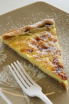 Milk pie with home made phillo Greek Sweets, Greek Desserts, Greek Recipes, Cypriot Food, Eat Greek, Breakfast Recipes, Dessert Recipes, Cheesecake, Greek Cooking