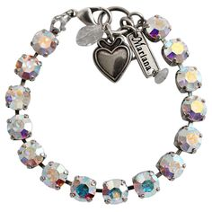 "Mariana Silver Plated Classic Shapes Swarovski Crystal Bracelet, 7.5"". Available at www.regencies.com"