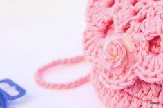 Particolare borsina a crochet