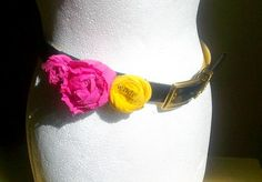 Belt Belt with rosettes Decoration expected by recyclingroom, $25.00