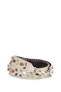 Jewel Guitar Strap - Customize any handbag with a uniquely designed guitar strap. The intricate design lends a rock 'n' roll edge to any bag for a personalized look.Style #: SSP7EJWM61