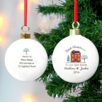 Personalised Cosy Home Christmas Bauble