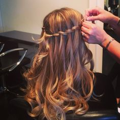 Waterfall braid for the ceremony