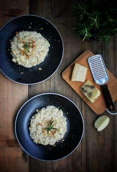 Krémové risotto s jablkem a ořechy – The Olive Risotto, Bread, Ethnic Recipes, Food, Brot, Essen, Baking, Meals, Breads
