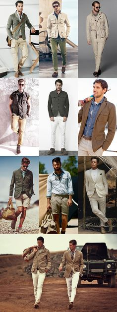 Mens Safari Trend Lookbook