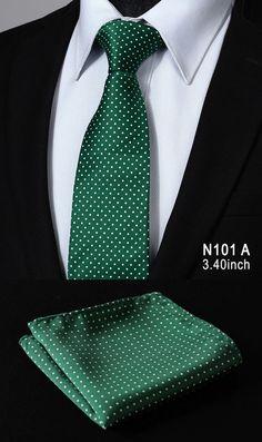TD119B8-T10 Blue Polka Dot 100%Silk Wedding Jacquard Men Tie Necktie Pocket Square Handkerchief Set