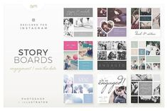 Storyboards / Engagement by AM Studio on @creativemarket