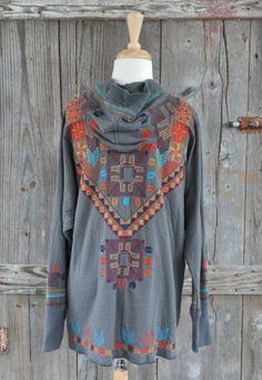 Yanavah Southwest Grey Rock Sweater Jacket - Choix Boutique - Boho Clothing, Vintage Style Clothing & Artisan Jewelry