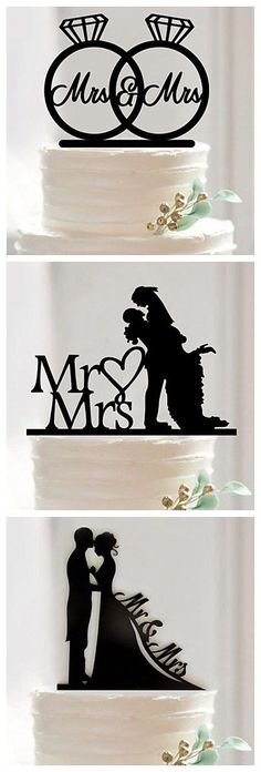 WOW! Love these cute wedding cake toppers! Quite chic and loving decor for your coming wedding.