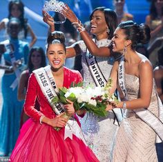 Crowning achievement: Miss USA, Olivia Culpo reacts after being named Miss Universe 2012 beside last year's winner Leila Lopes of Angola, right, during the Miss Universe Pageant at Planet Hollywood in Las Vegas