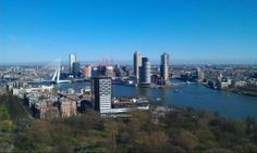 View from Euromast, Rotterdam, The Netherlands Rotterdam, San Francisco Skyline, New York Skyline, Travel, Viajes, Destinations, Traveling, Trips