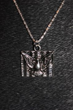 Silver Dove Peace Pendant Necklace by AliciaAndAlison on Etsy