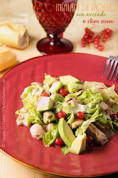 My Ricettarium: Insalata di pollo con avocado e ribes rosso