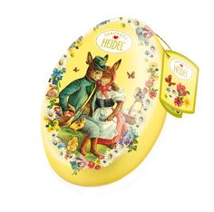 wholesale big egg shape tin box for easter
