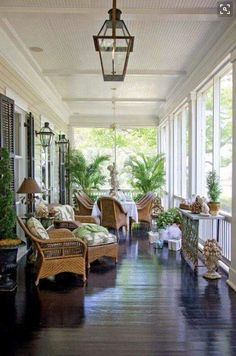 Another example of the side veranda (although it would be narrower). Back veranda could also be like this is going more traditional. Home Porch, House With Porch, Outdoor Rooms, Outdoor Living, Outdoor Patios, Outdoor Kitchens, Outdoor Sheds, Luxury Kitchens, Indoor Outdoor