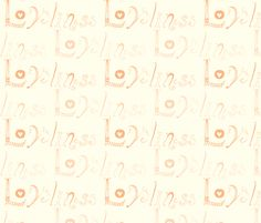Loveliness Peachy fabric by smuk on Spoonflower - custom fabric