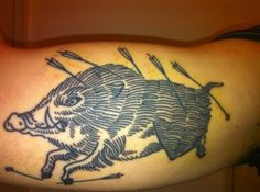 not into the arrows or a dead boar, but i loooove the line work here