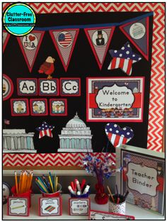 government theme bulletin boards   Clutter-Free Classroom: Patriotic / America / Social Studies Themed ...
