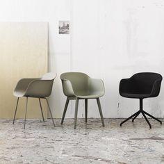 Fiber chair naturel Muuto tube base black . # 20005 stoel Muuto bij emma b winkel Utrecht