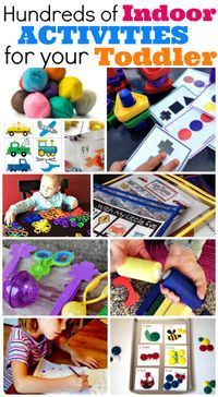 WOW! So many great resources for indoor toddler activities.