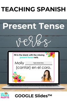 For you Spanish class, these interactive Present Tense Digital Task Cards for Google™ Slides are for anyone looking to reinforce students' understanding of regular present tense verbs in Spanish in a fun, digital format. Students will be engaged and get a great review of el presente as they work their way through. Don't miss these task cards that are also great for distance learning! #SpanishClassroom #SpanishVerbTense #DistanceLearning