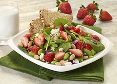 Strawberry, White Bean and Edamame Salad | Naturipe Farms