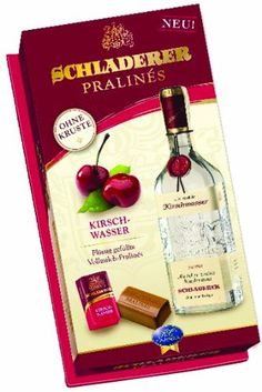 Schladerer Kirschwasser Filled Milk Chocolate, Cherry Brandy, 4.5 Ounce - http://www.yourgourmetgifts.com/schladerer-kirschwasser-filled-milk-chocolate-cherry-brandy-4-5-ounce/