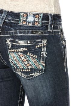 Miss Me Boot Cut Embroidered Jean JP8336B