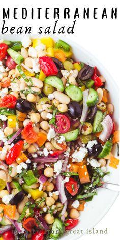 Bean Salad Recipes, Healthy Salad Recipes, Veggie Recipes, Vegetarian Recipes, Cooking Recipes, Bean Salad Vegan, Easy Bean Recipes, Recipes Using Beans, Bean Salads