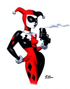 """Harley Quinn """"To me, Harley is a fascinating character, and one of my all-time favorites in the comic-cartoon world."""" I agree!   Via john m cusick"""