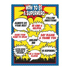 Superhero classroom decor is one of my favorite themes for back to school. The superhero theme encourages self discovery and the unique tal. Superhero Classroom Theme, Superhero Party, Classroom Themes, Superhero Bulletin Boards, Superhero Poster, Superhero Rules, Superhero Preschool, Back To School Superhero, Superhero Behavior