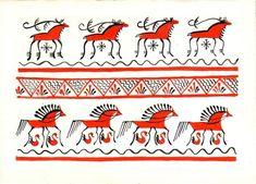 Russian folk craft which I like most of all Мезенская роспись Folk Art Flowers, Flower Art, Russian Folk Art, Traditional Paintings, Indian Art, Painted Rocks, Art Decor, Illustration Art, Drawings