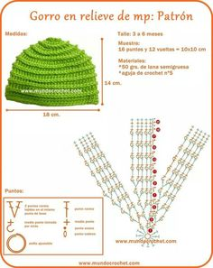 Hat crochet pattern قبعة اطفال