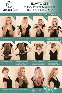 How to use Charlie Curls to get No heat, beautiful curls and waves. Easy and effortlessly.
