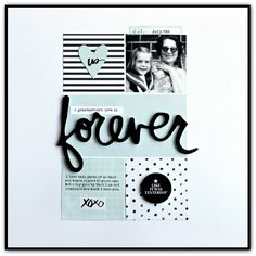 Forever - Scrapbook.com - USe planner goodies on layouts too!