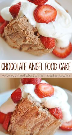 This lighter-than-air chocolate angel food cake is absolutely divine.