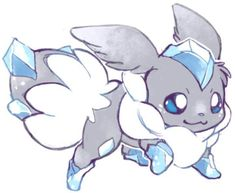 Pokemon Fusion Art, Pokemon Fan Art, Pokemon Rare, My Pokemon, Cute Fantasy Creatures, Mythical Creatures Art, Cute Creatures, Cute Pokemon Pictures, Pokemon Images