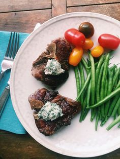 These grilled lamb chops are fancy — and easy! | Grilled Lamb Chops with Onions and Herb Salad