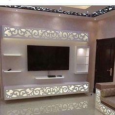 House Ceiling Design, Ceiling Design Living Room, Bedroom False Ceiling Design, Tv Wall Design, Tv Unit Interior Design, Tv Unit Furniture Design, Wall Unit Designs, Living Room Tv Unit Designs, Pooja Room Design