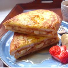 Peanut butter and banana french toast - have to try it out.