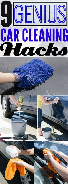 9 car cleaning hacks and tips that will make your car shine.