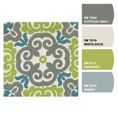 Suzanne Aegean fabric paint palette from Chip It! by Sherwin-Williams