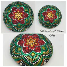 Let the colorful art created by Miranda brighten up a space in your home or find that special one of a kind gift Painting Snowflakes, Mandala Painting, Dot Painting, Stone Painting, Christmas Mandala, Christmas Hearts, Christmas Holiday, Mandala Dots, Mandala Pattern