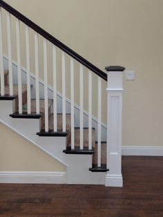 Railing Spindles And Newel Posts For Stairs 20 Ideas On   Stair Posts And Spindles   Landing   Natural Hardwood   Rectangular   Traditional   Wood