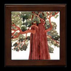 Sequoia ceramic trivet by StudiobytheSound on Etsy, $26.00